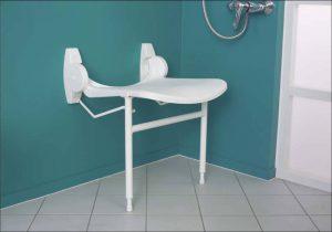 Sièges de douche muraux XL avec béquille