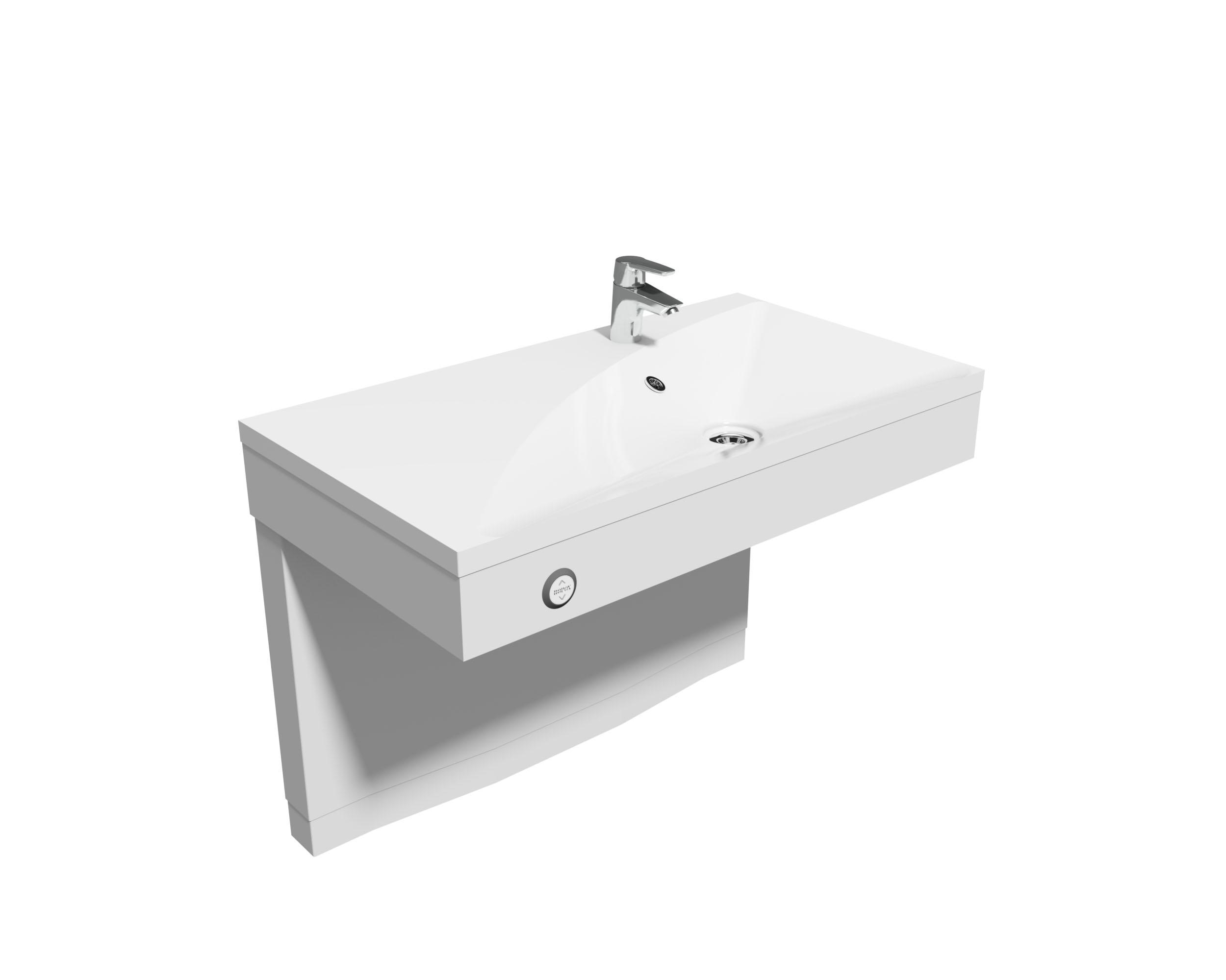 Lavabo Personne Mobilité Réduite lavabo rectangle vanityline en version électrique ou manuelle